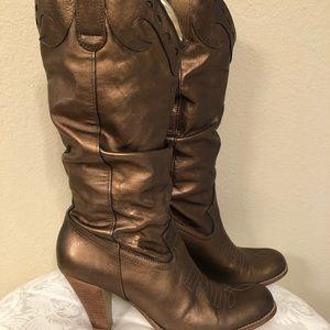 Jessica Simpson Bronze Boots